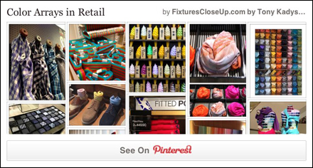 Color Arrays in Merchandising Pinterest Board for FixturesCloseUp