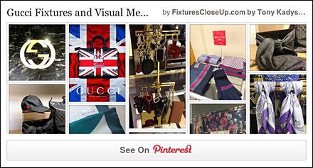 Gucci Pinterest Board on Fixtures Close Up