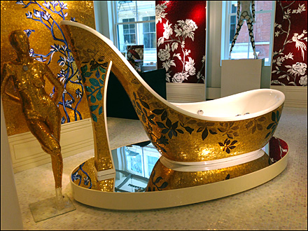 High-Heel Bath Wear on Display