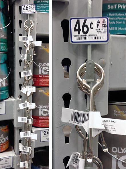 Paint Can Opener Cross Sell Strip Merchandiser
