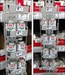 Twofer Pallet Rack Strip Merchandiser Aux