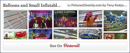 Balloons and Inflatable FixturesCloseUp Pinterest Board