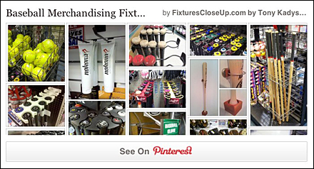 Baseball Merchandising Fixtures Pinterest Page for FixturesCloseUp