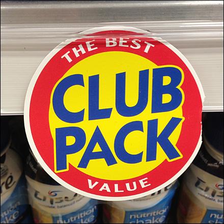 Circular Promo Clip Club Pack Tag