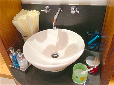 Designer Sink as In-Store Amenity Main