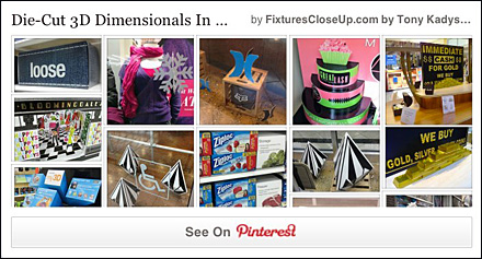 Die-Cut 3D Dimensional Pinterest Board