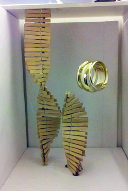 Double Helix Clothes Pin Jewelry VM