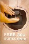 Free 30+ Sunscreen Closeup