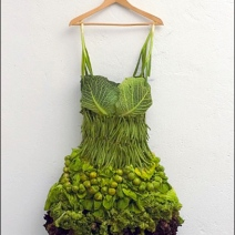 Fresh Green Vegetable Skirt