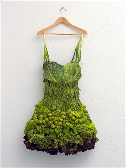 Fresh Green Vegetable Skirt