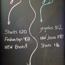 Girls Guys Segregated Sales Chalkboard