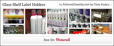 Glass Shelf Label Holders Pinterest Board for FixturesCloseUp