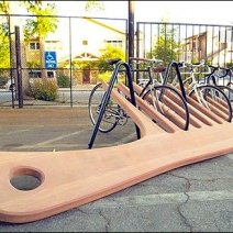 Hair Comb Bicycle Rack by ThisIsColossal.com