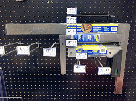 Nested Squares Pegboard Rack Main