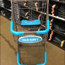 Old Navy Shopping Cart Branding 1