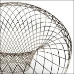 Open Wire Chair Design Closeup
