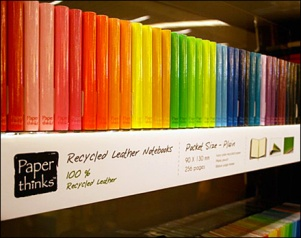 Paperthinks - Recycled Leather Notebooks Color Array