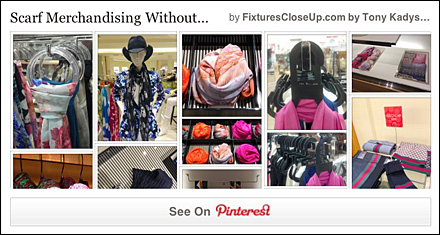 Scarf Merchandising Without Knots Pinterest Board