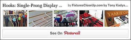 Single Prong Display Hook FixturesCloseUp Pinterest Board