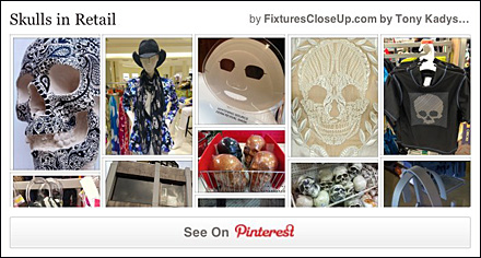Skulls in Retail Pinterest Board FixturesCloseUp