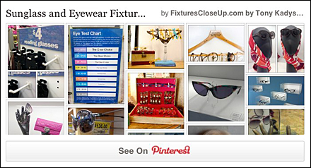 Sunglass and Eyewear Merchandising Pinterest Board for Fixtures Close Up