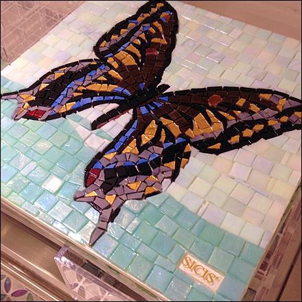Tile Butterfly Branded Sicis Detail