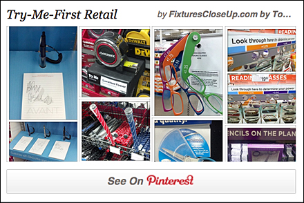 Try Me First in Retail Pinterest Board for FixturesCloseUp