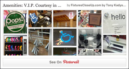 VIP Courtesy Amenities in Retail Pinterest Board