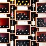 Wine Display Wall Closeup