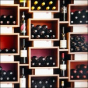 Well-Imagined Wine Wall