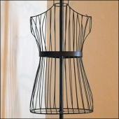 Wire Mannequin Dress Form Detail