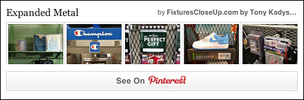 Expanded Metal Pinterest Board on FixturesCloseUp