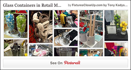 Glass Containers in Retail Pinterest Board for FixturesCloseUp