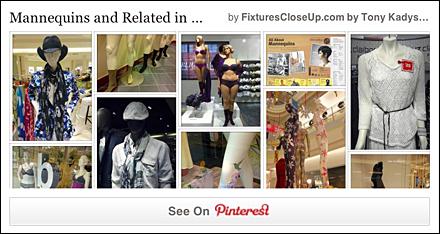 Mannequin Pinterest Board on FixturesCloseUp