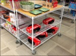 Metro White Display Cart Aux
