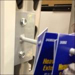 Pallet Rack Upright Peg Hook Closeup