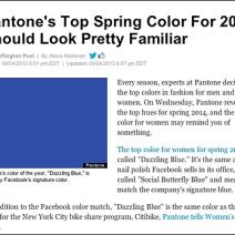 Pantone Dazzling Blue Spring Color For 2014