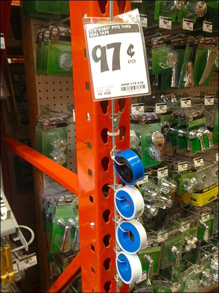 Pipe Thread Tape on Strip Merchandiser Overall