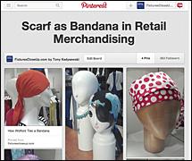 Scarf as Bandana in Retail Merchandising