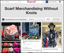 Scarf Merchandising Without Knots