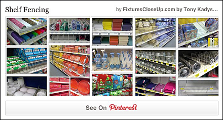 Shelf Fencing FixturesCloseUp Pinterest Board