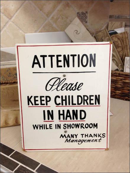 Attention Please Keep Children in Hand