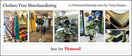 Clothes Tree Merchandising FixturesCloseUp Pinterest Board