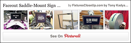 Faceout Saddle Mount Sign Holders FixturesCloseUp Pinterest Board