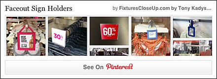 Faceout Sign Holders Pinterest Board on FixturesCloseUp