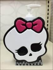 Halloween Goth Skull Soap Dispenser Main