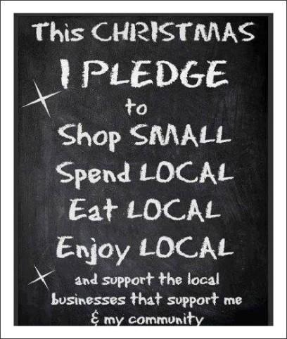 Shop Local Xmas Pledge