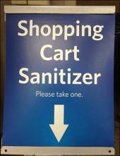 Shopping Cart Sanitizer CloseUp
