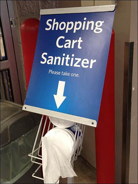 Cart Sanitizing Imperative - Fixtures Close Up: Retail