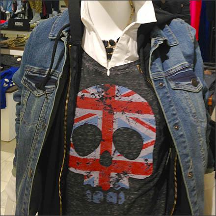 Union Jacked Skull CloseUp